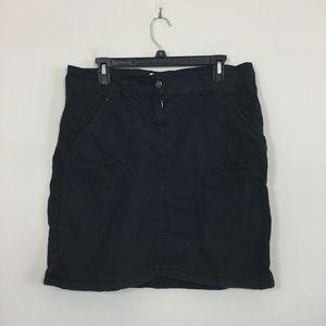 L.O.G.G. Size EUR 42 US 10 Black Khaki Skirt
